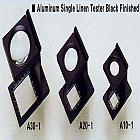 Alumi. Single Linen Tester black finished